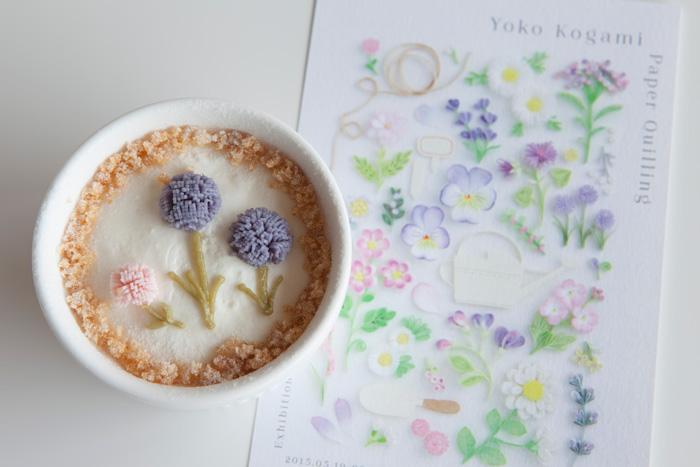 小紙陽子展 特製「レアチーズケーキ」
