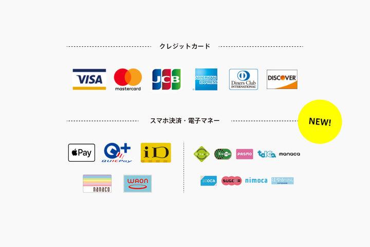 交通系ICカード、クイックペイ、iDなどでお支払いできるようになりました(ショップ)