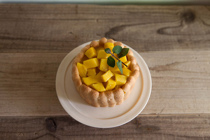 製菓教室 マンゴーのシャルロット/フルーツのタルト