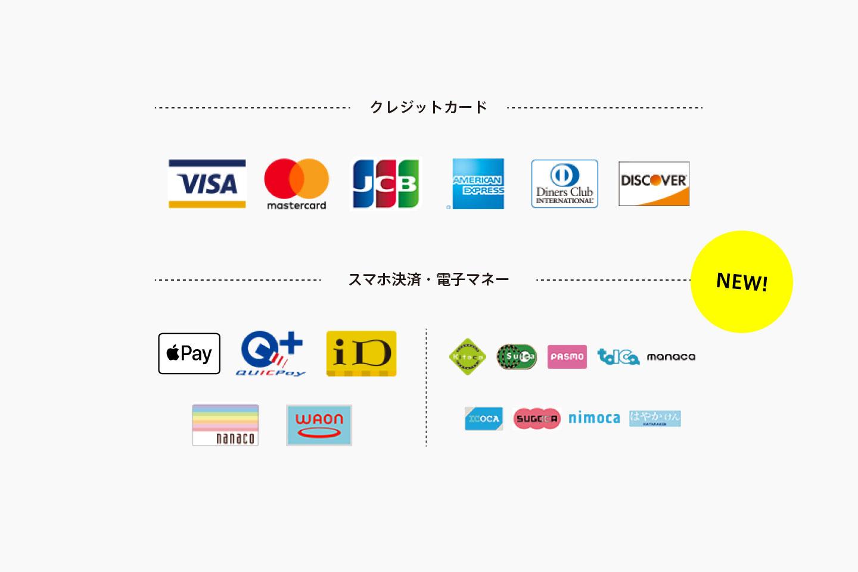 交通系ICカード、クイックペイ、iDでお支払いできるようになりました(ショップ)
