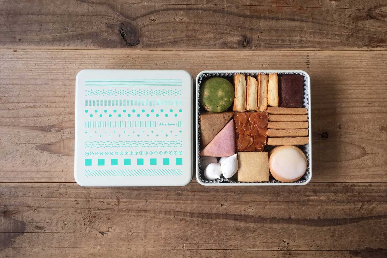 Afterhours クッキー缶「グリーン」1/5 21時から発売
