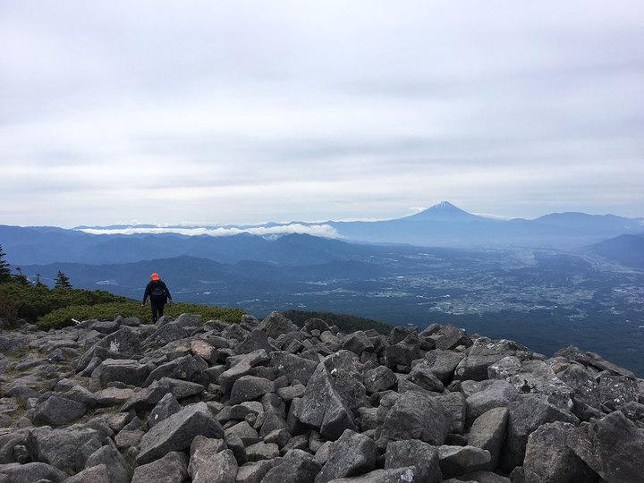 編笠山〜権現岳(観音平から日帰り周回)