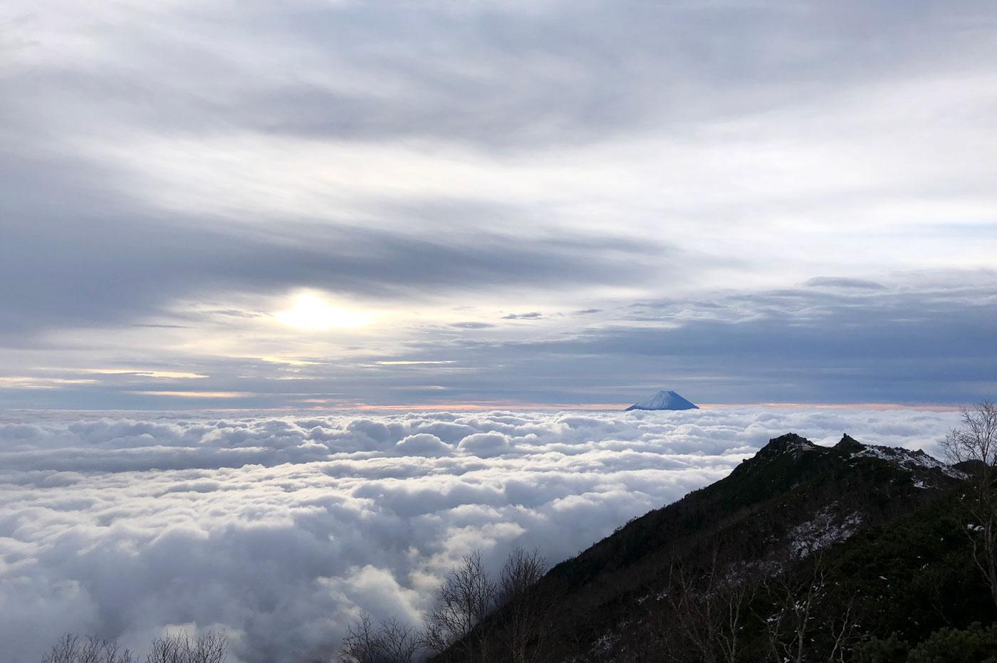 薬師岳 富士山